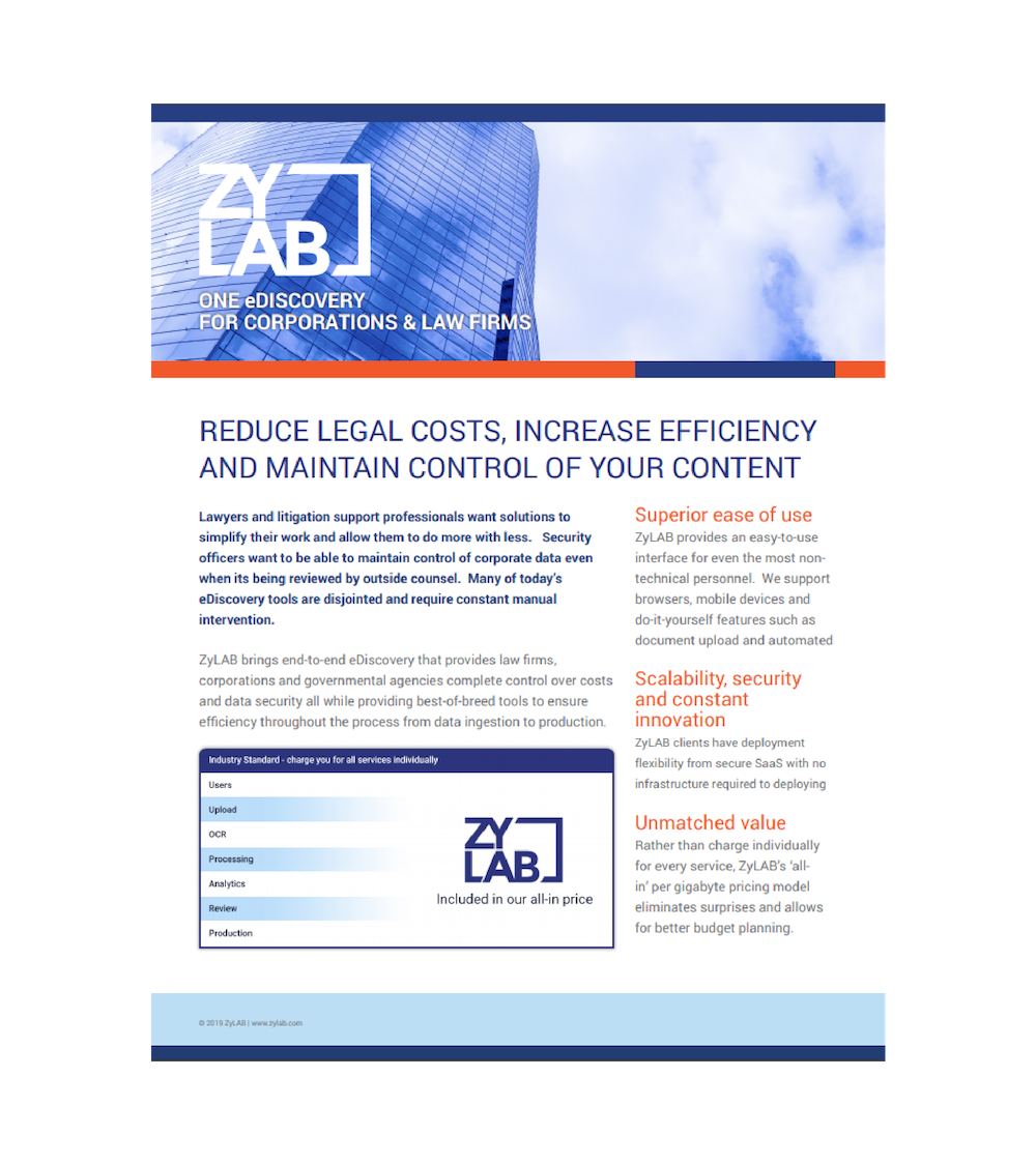 Datasheet Law FIrms front