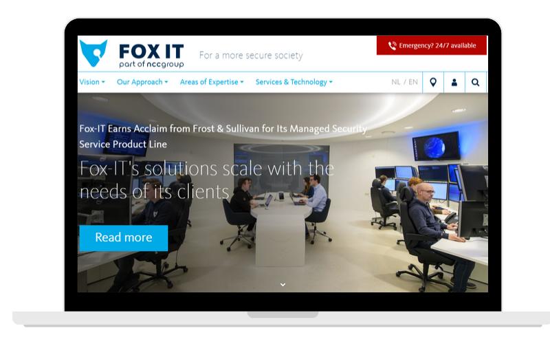 Screenshots Partner Page Fox-IT