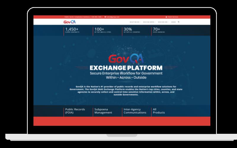 Screenshots Partner Page GovQA