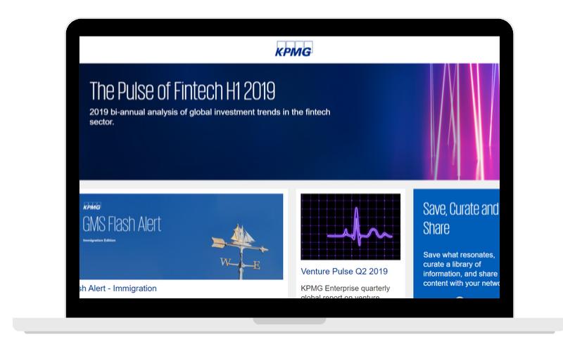 Screenshots Partner Page KPMG