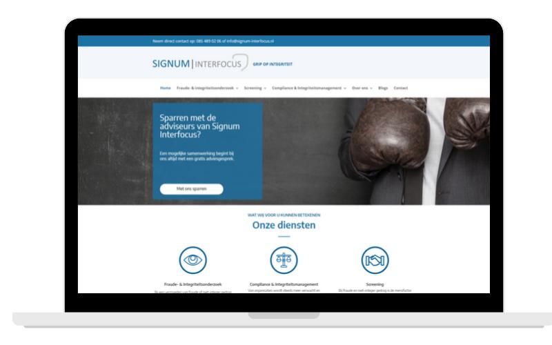 Screenshots Partner Page Signum Interfocus