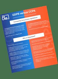 datasheet GDPR vs CCPA