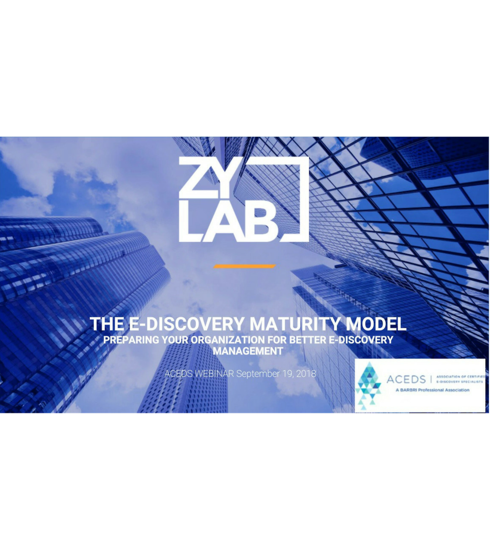 the eDiscovery maturity model